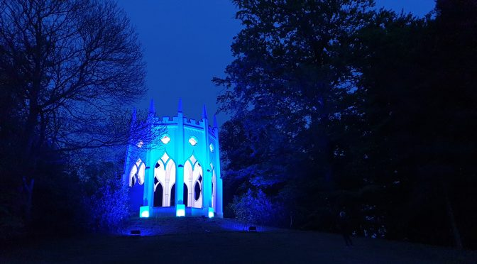 Painshill lights up blue in tribute to key workers
