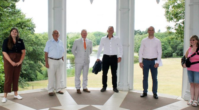 Esher and Walton MP, Dominic Raab and Simon Lewis from Elmbridge Philanthropy Fund visit Painshill