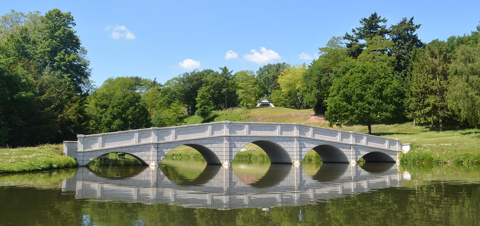 View of bridge in Summer