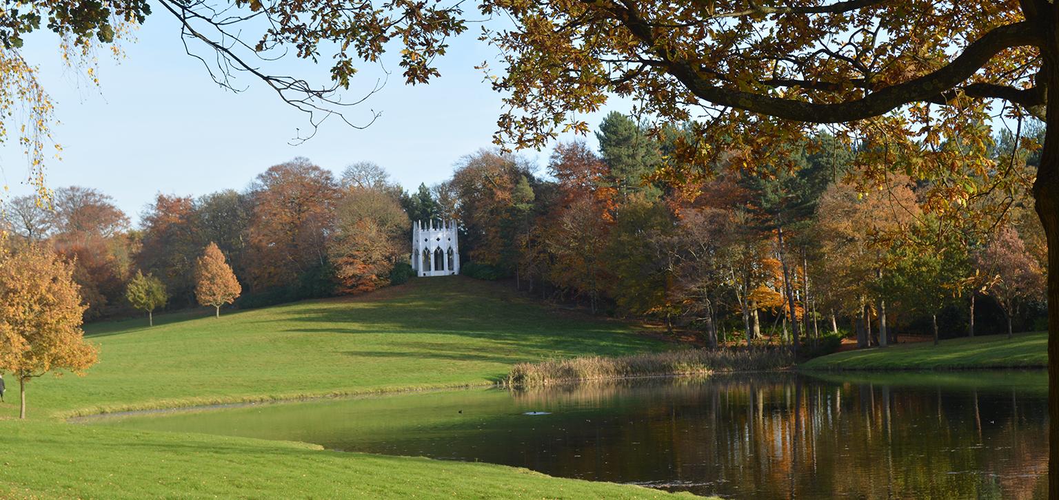Gothic Temple in Autumn