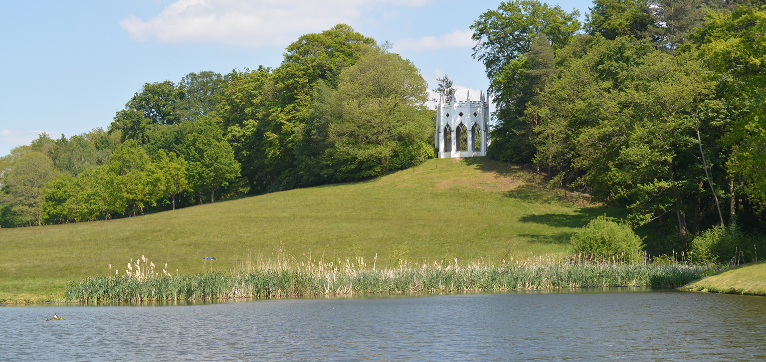 Gothic Temple over lake