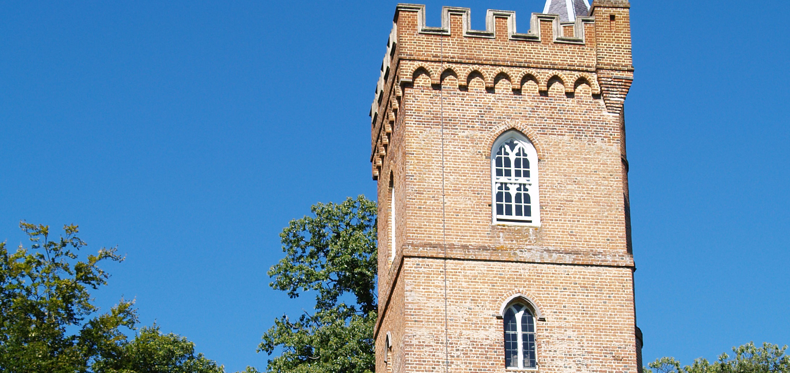 The Gothic Tower against blue sky