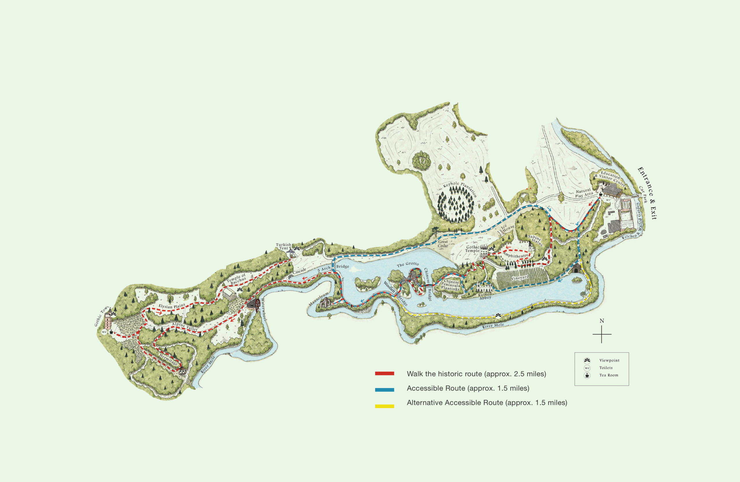Painshill Full size Map