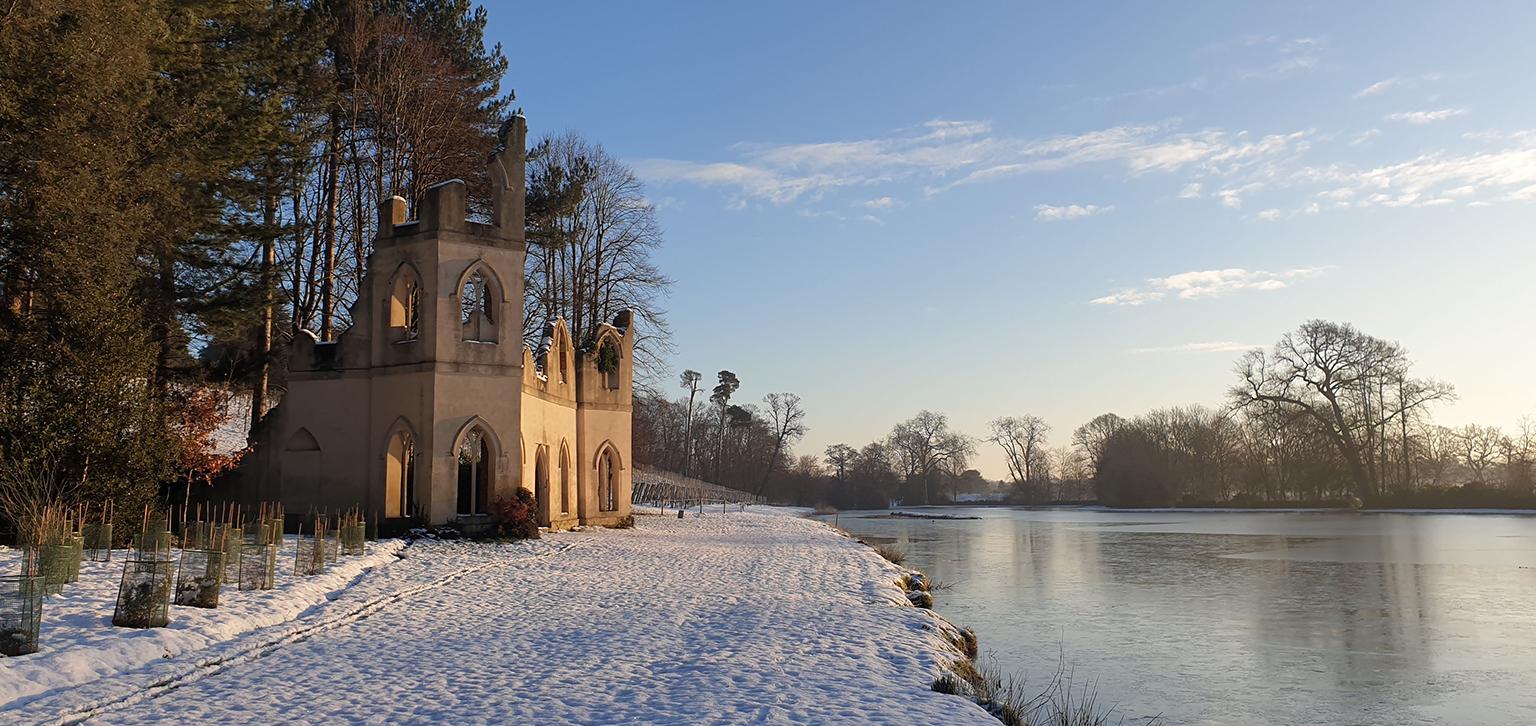 Ruined Abbey in winter
