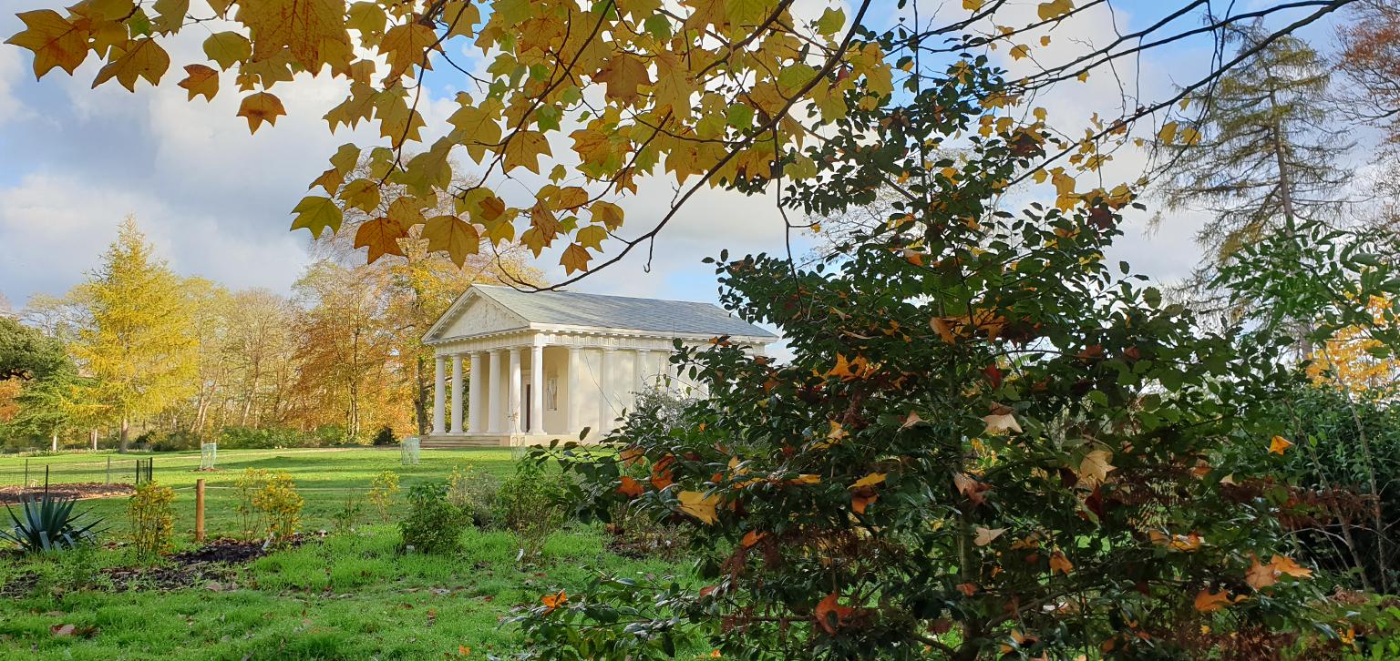 Temple of Bacchus in Autumn