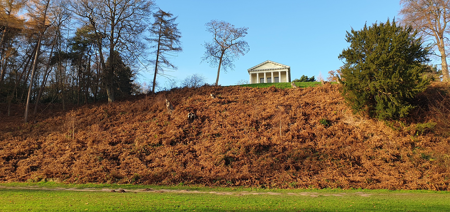 Temple of Bacchus on hill