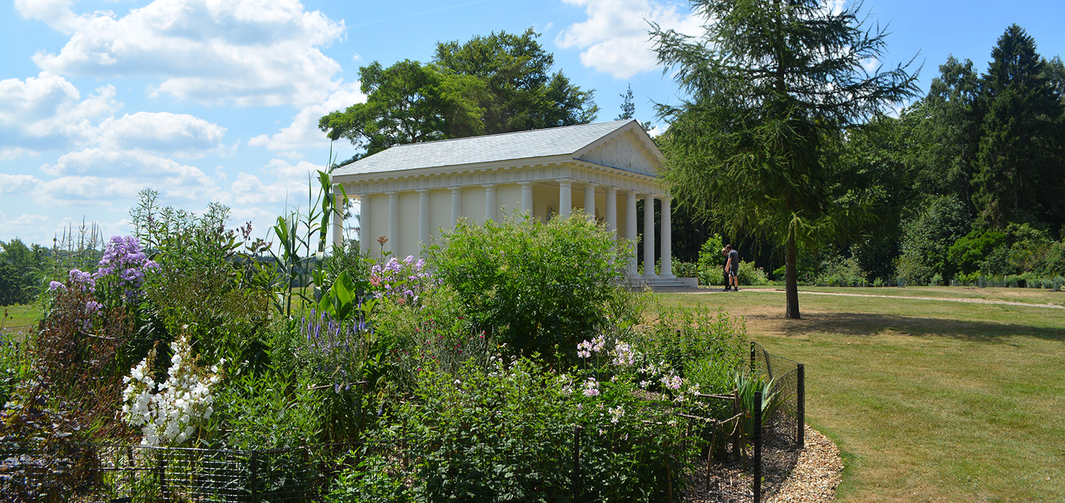 Temple of Bacchus with plantings