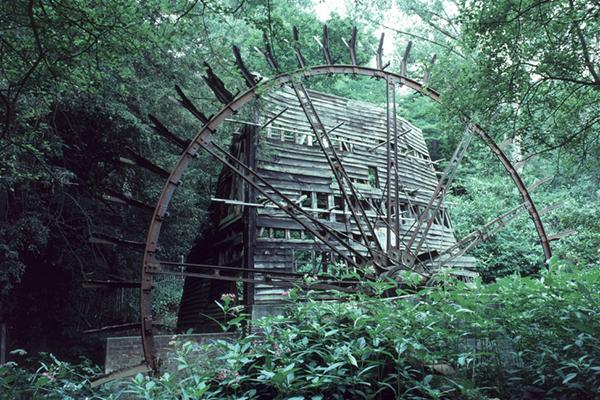 Painshill Water Wheel - July 1986