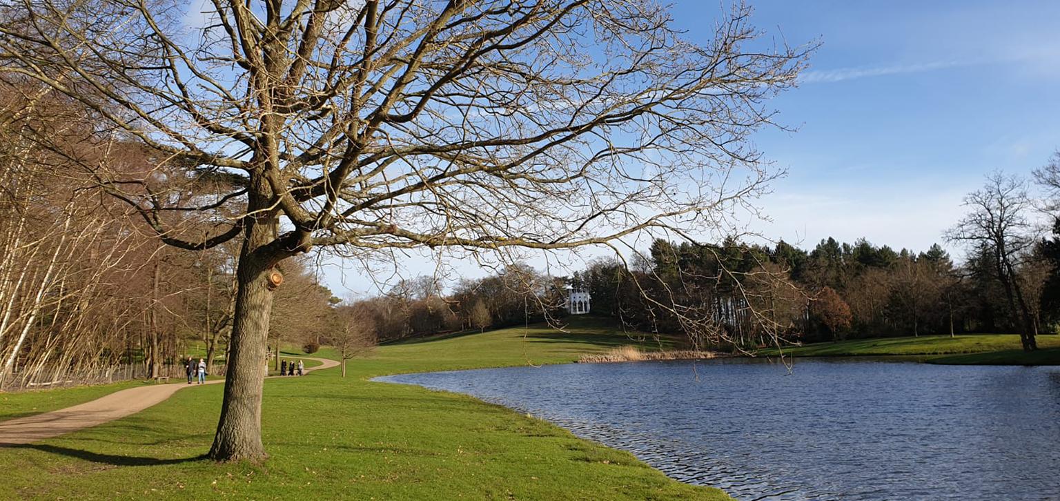 Winter lake at Painshill Park