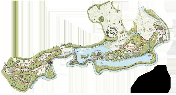 Painshill map - transparent background